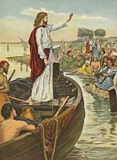 Sitting In The Water; Painting Posters - A Sermon  Poster by English School