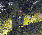 On Paper Paintings - A Shady Spot by Winslow Homer