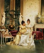 Society Paintings - A Shared Confidence by Joseph Frederick Charles Soulacroix
