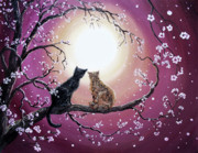Black Cat Landscape Prints - A Shared Moment Print by Laura Iverson