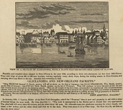 Racism Prints - A Ship Of Slaves In 1836 Leaving Print by Everett