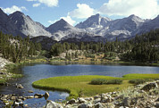 Mountain Scene Photo Prints - A Sierra Mountain Lake In Summer Print by Stephen Sharnoff