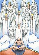 Angel Drawings - A Simple Prayer by Amy S Turner