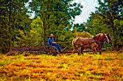 Amish Photography Posters - A Simpler Time impasto Poster by Steve Harrington