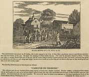 Slavery Framed Prints - A Slave Coffle Setting Framed Print by Everett