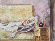 A Sleeping Toddler Print by Irina Sztukowski