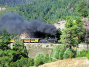Steam Engine Photos - A Slow Climb by Ken Smith