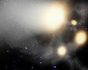 Radiating Digital Art - A Smash-up Of Galaxies by Stocktrek Images
