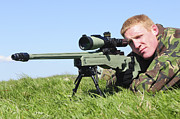 Concentration Photos - A Sniper Looks Through The Sight by Andrew Chittock