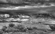 Snowy Mountain Photos - A Snowy Day in the Desert  by Saija  Lehtonen
