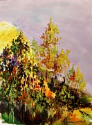 Autumn Landscape Drawings - A Softness Settles In by John  Williams