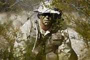 A Soldier Practices Evasion Maneuvers Print by Stocktrek Images