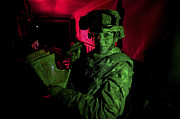 Body Armor Art - A Soldier Reads A Map At Night by Terry Moore