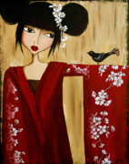 Portraits Art - A Song for Suki by Debbie Horton