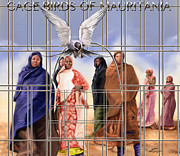 Slavery Painting Posters - A Song For The Caged Birds Of Mauritania Poster by Reggie Duffie