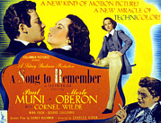 1940s Poster Art Photos - A Song To Remember, Cornel Wilde, Merle by Everett