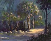 Garden Painting Originals - A Special Place by Michael Humphries