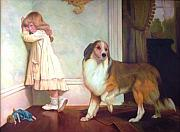 Collie Painting Framed Prints - A Special Pleader Framed Print by Michael Chesnakov