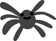 Cartoon Spider Prints - A Spider Print by Jimajima