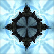 Prague Digital Art - A Spin in Prague 2 by John O Doherty