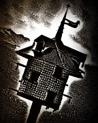 Gothic Dark Photography Prints - A Spooky Little Birdhouse Print by Mimulux patricia no