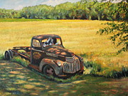 Delivery Truck Paintings - A spot in the shade by Daniel W Green