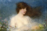 Brunette Prints - A Spring Idyll Print by George Henry Boughton