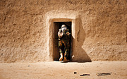 Frame House Prints - A Squad Leader Searches The Room Print by Stocktrek Images