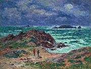 Rough Waters Prints - A Squall Print by Henry Moret