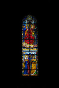 Biblical Scene Posters - A Stained Glass Window Lit By The Day Poster by Heather Perry