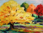 Fall Colors Autumn Colors Drawings Posters - A Stand Out Poster by John  Williams