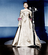 Gold Lame Photo Prints - A Star Is Born, Judy Garland, 1954 Print by Everett