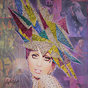 Swarovski Crystals Painting Originals - A Star is Born This Way by Stapler-Kozek