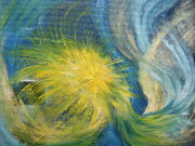 Star Burst Paintings - A Star Was Born by Nancy L Jolicoeur