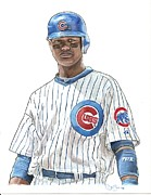 Chicago Cubs Paintings - A Starlin is Born by Jason Yoder
