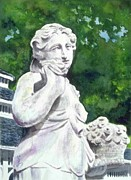 A Statue At The Wellers Carriage House -1 Print by Yoshiko Mishina