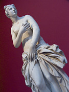 Paganism Framed Prints - A Statue Of Aphrodite At The Acropolis Framed Print by Richard Nowitz