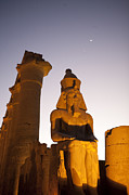 Pharaohs Prints - A Statue Of Ramsses Ii At Luxor Temple Print by Taylor S. Kennedy