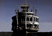 Steamboat Digital Art Prints - A steamboat a comin Print by David Lee Thompson