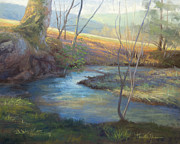 Smoky Mountains Paintings - A Step Away by Jonathan Howe