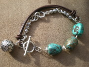 Turquoise Jewelry Prints - A Step Further Print by Beth Sebring