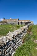 Country Cottage Photos - A Stone Fence Along A Field By A by John Short