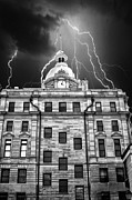 Capital Building Prints - A Storm Above Print by Kenneth Mucke