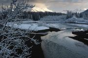 Photogrphy Prints - A Storm Clears Along The Mendenhall Print by Melissa Farlow