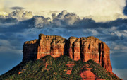 Arizona Sedona Prints - A Storm is Brewin Print by Saija  Lehtonen