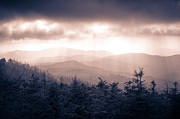 Great Smokey Mountains Framed Prints - a Storm Over the Smokys Monotone Framed Print by Pixel Perfect by Michael Moore