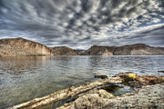 Canyon Lake Prints - A Stormy Day at the Lake  Print by Saija  Lehtonen