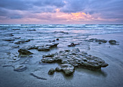 February Ocean Prints - A Stormy Sunset Print by Alexander Kunz