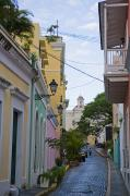 Urban Scenes Art - A Street In Colorful Old San Juan by Taylor S. Kennedy