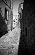 Southern Italy Framed Prints - A Street in Sicily Framed Print by Madeline Ellis